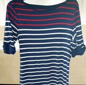 Red, white & blue Tshirt dress